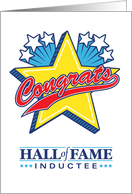 Congratulatuions Hall of Fame Inductee Generic card