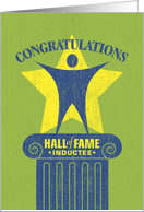Congratulations Hall of Fame Inductee card