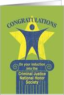 Congratulations Criminal Justice National Honor Society Inductee card