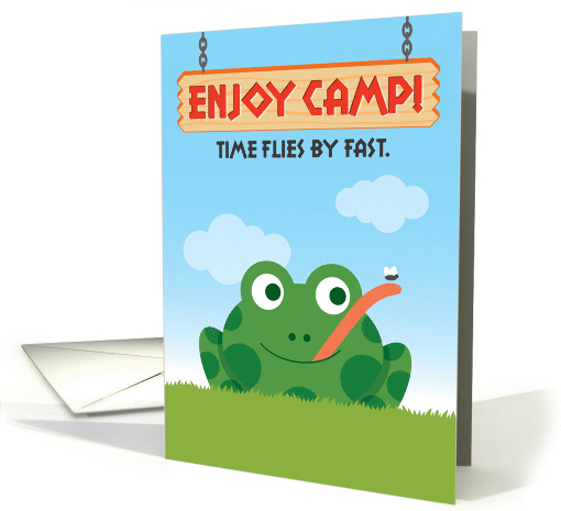 Summer Camp, Thinking of You with Frog and Fly card (1292058)