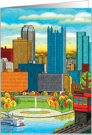 Pittsburgh Autumn Cityscape Any Occasion Blank Inside card