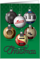Merry Christmas Rock and Roll card