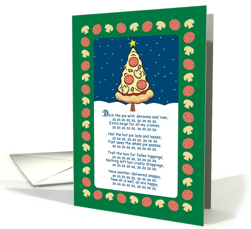Funny Pizza Tree Christmas Parody Song card (1475146)