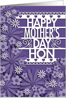 Faux Cut Paper Flowers, Mother's Day for Hon card