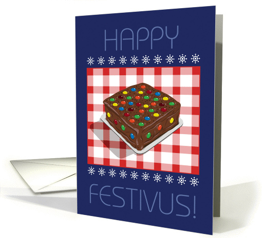 Chocolate Candy Decorated Festivus Cake card (946568)