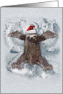 Sloth Angel: Humorous Christmas Card with The World's Slowest Angel card