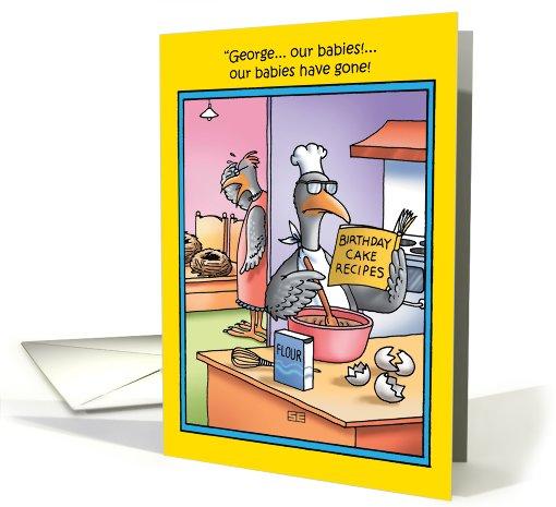 Babies Have Gone Eggs Funny Birthday card (1089984)