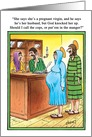 Call Cops Mary & Joseph in Manger Hotel Humor Christmas Card
