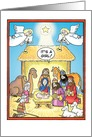 Its A Girl Nativity Scene Humor Christmas Card