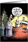 Miners and Coal in Stocking Christmas Humor card