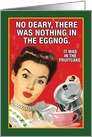Retro Nothing in Eggnog Funny Christmas Card