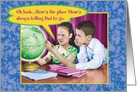 Here's The Place Vintage Globe Funny Father's Day Card