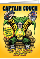 Captain Couch Hero Funny Father's Day Card