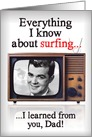 Learned TV Surfing From Dad Vintage Father's Day card