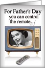 Remote or Thermostat Retro TV Father's Day Card