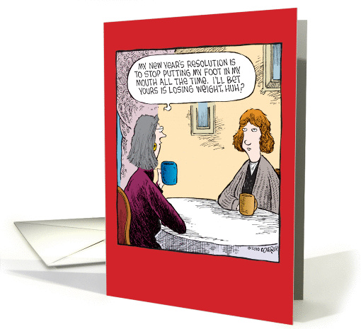 Foot In Mouth New Year Joke card (1457056)