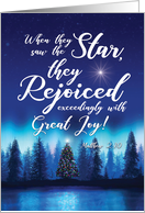 Christmas Quotes Matt 2:10 with Biblical Holiday Words For the Soul card