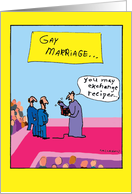 Gay Marriage Exchange: Humorous Recipe Wedding Congratulations Card
