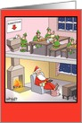 Santa Suggestion Box Humor Christmas Card