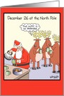 December 26 So Yesterday Humor Christmas Card
