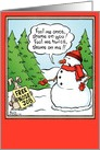 Free Nose Job Funny Holiday Card