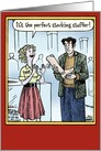 Perfect Stocking Stuffer Funny Season Greetings Card