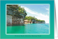 Pictured Rocks Shoreline National Park, Blank Note Card
