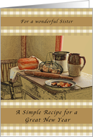 for a wonderful sister a simple recipe for a great new year card