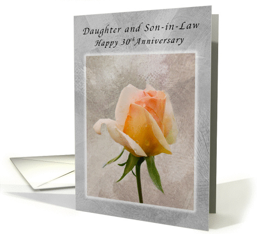 Happy 30th Anniversary, For Daughter and Son-in-Law, Fresh Rose card