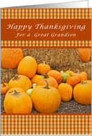 Happy Thanksgiving, For a Great Grandson, Pumpkins card