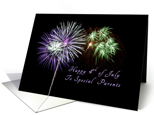 Happy Independence Day to a Special Parents, Fireworks card (1258530)