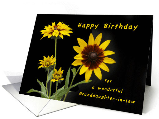 Happy Birthday Granddaughter-in-Law, Rudbeckia flowers card (1295434)