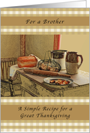 Happy Thanksgiving, Brother, Recipe of Thanksgiving card