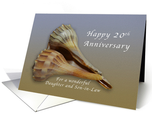 Happy 20th Anniversary Daughter and Son in Law, Seashells card