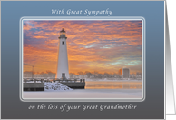 Sympathy on the Loss of Your Great Grandmother , Detroit Light card