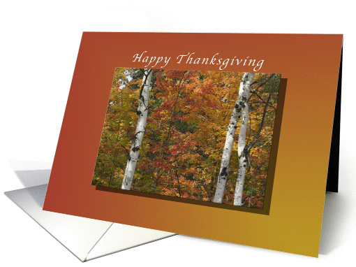 Happy Thanksgiving, Grandparents, Trees in full Fall Colors card