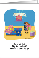 Sweet Happy Hanukkah For a Girl card