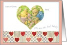Teddy Bears Birthday Valentine for Husband with Hearts card