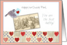 teddy bears birthday valentine for husband, scrapbook layout card