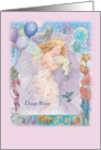 85 birthday for sister in law, fairy butterfly card