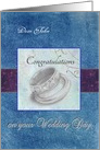 Wedding Congratulations Name Specific Wedding Rings card