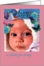 Pastel balloons & magical fairy, personalize first birthday invite card