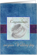 wedding congratulations for son wedding rings from dad card