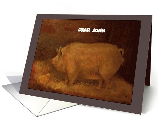 Name Specific Whimsical Piggy & Chick card (1254410)