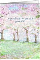 painterly grandniece congratulations, custom front card