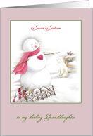 Sweet Sixteen Granddaughter on Christmas Day card