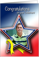 Photo Card Patriotic Congratulations on your Enlistment card