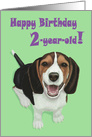 Happy Birthday 2-year-old!--Adorable Smiling Beagle Puppy Card
