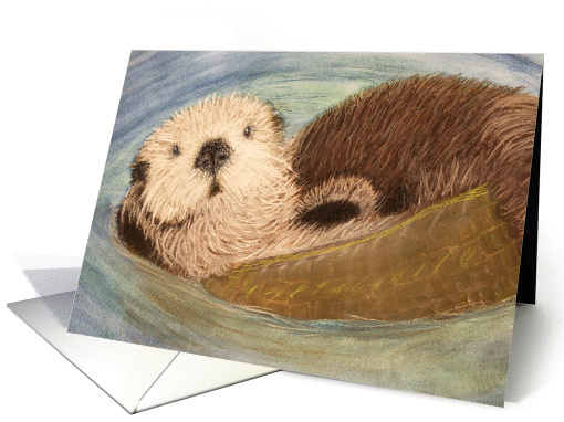 Endangered Species--Sea Otter Blank Note card (1204136)