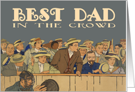 Father's Day Card - Vintage Baseball Game card